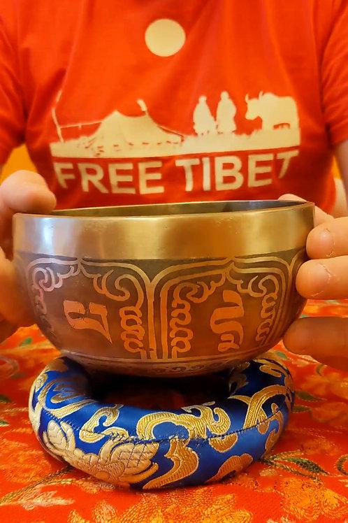 Campana tibetana incisa 15Cm - CT45