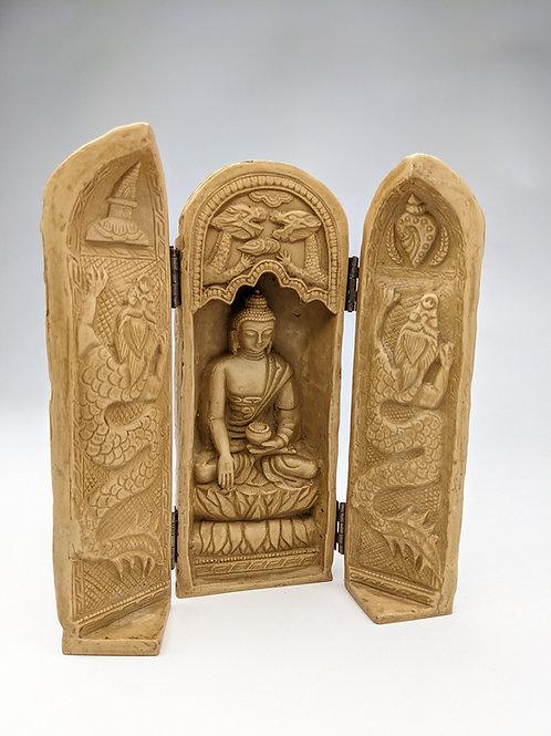 Altare Buddha pasta di pietra 20cm