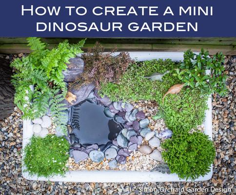 How to create a mini dinosaur garden