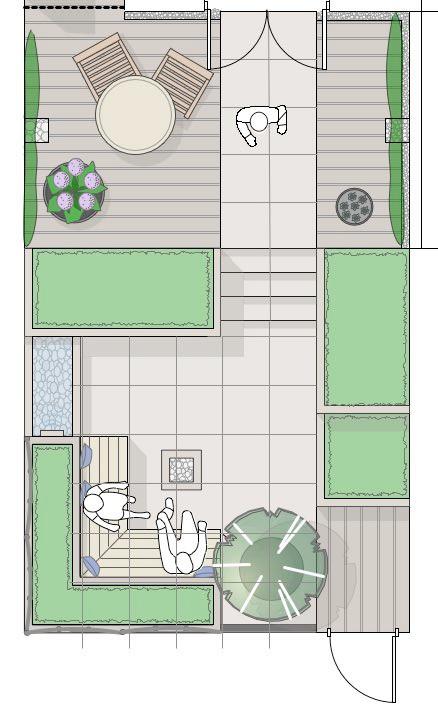 Garden design masterplan by Simon Orchard Garden Design