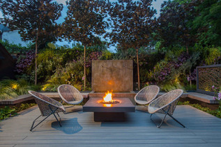 Firepit and water feature