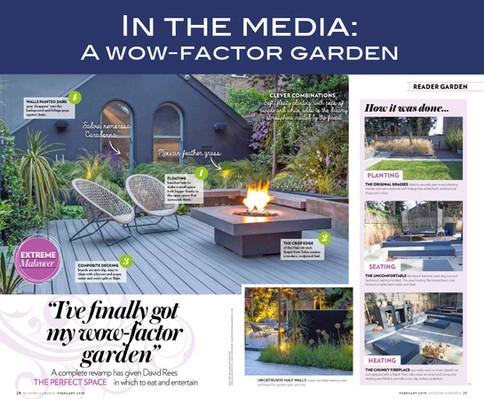In the media - a wow-factor garden