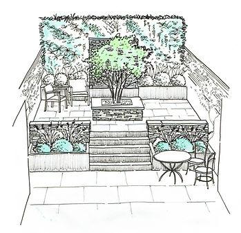 Courtyard garden design with tree.jpg