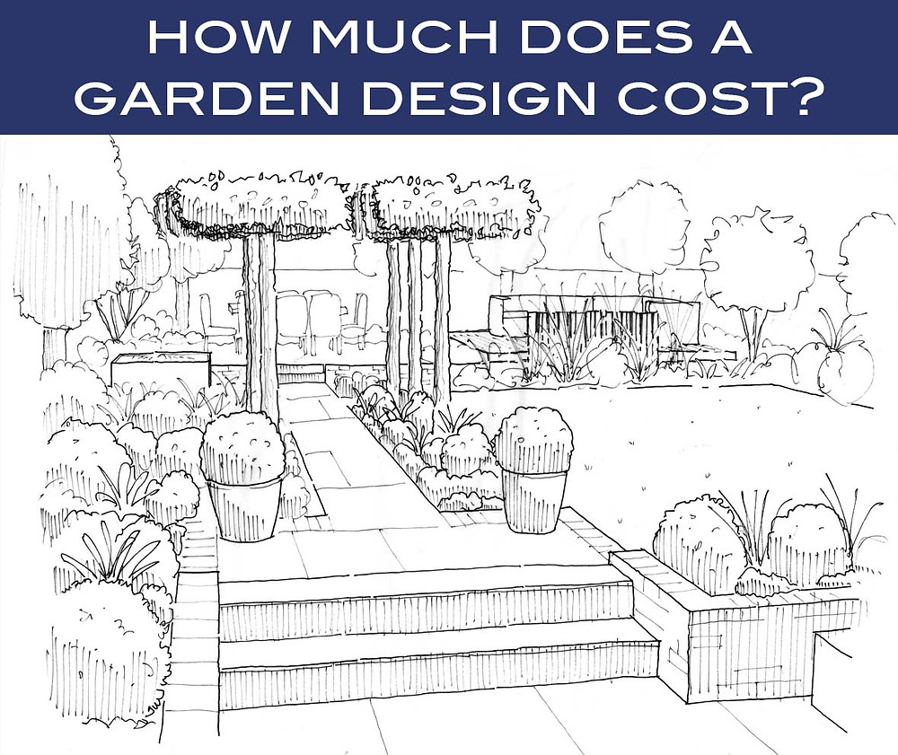 Perspective sketch by Simon Orchard Garden Design