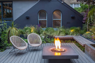 Cosy firepit area