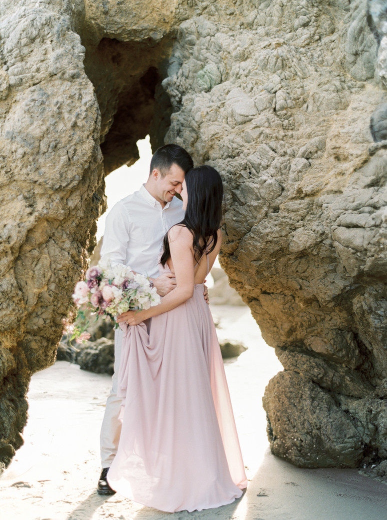 NICHOLLE & ANDREW ENGAGEMENT IN MALIB
