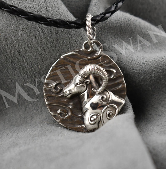 Spirit Ram Necklace/Pendant in Sterling Silver