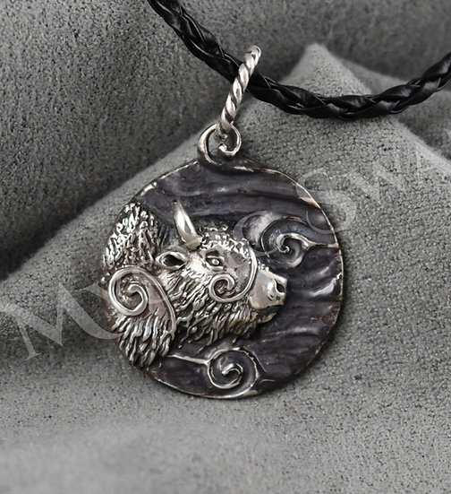 Spirit Bison/Buffalo Necklace/Pendant in Sterling Silver