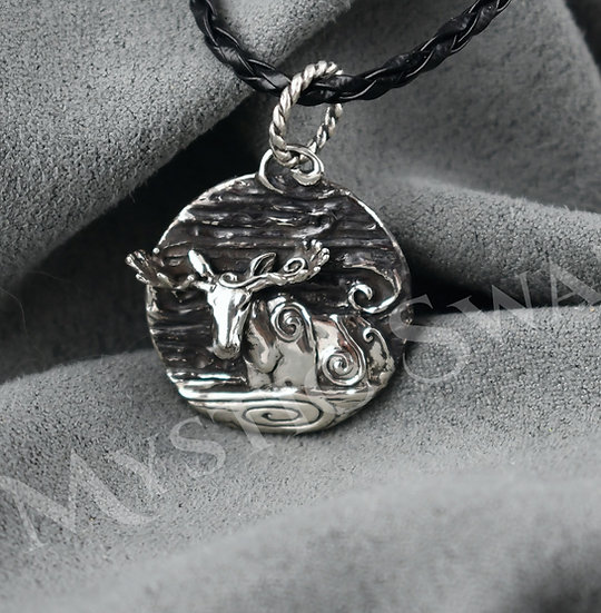 Spirit Moose Necklace/Pendant in Sterling Silver
