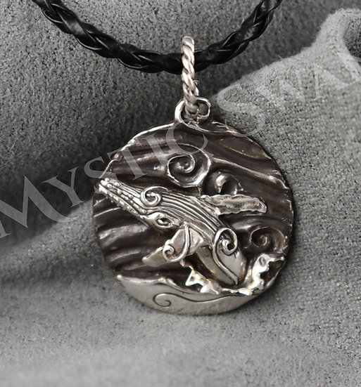 Spirit Whale Necklace/Pendant in Sterling Silver