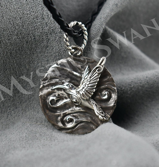 Spirit Hummingbird Necklace/Pendant in Sterling Silver