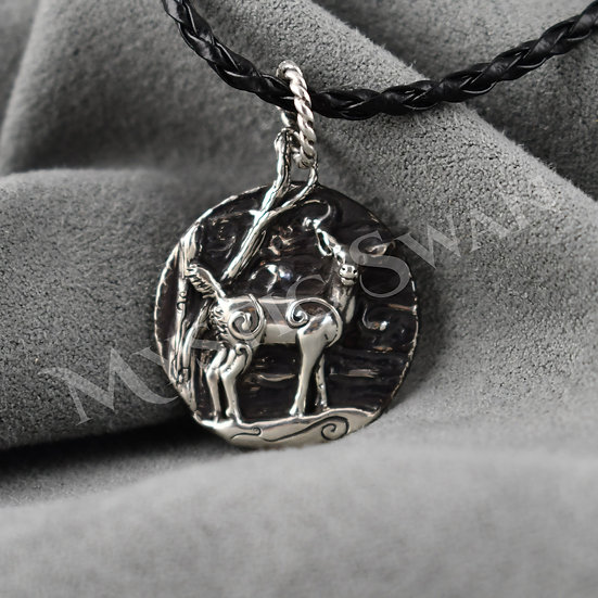 Spirit Deer Necklace/Pendant in Sterling Silver