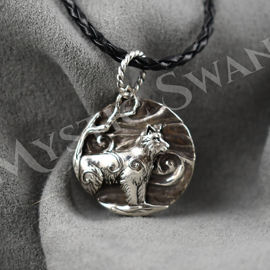 Spirit Lynx Necklace/Pendant in Sterling Silver