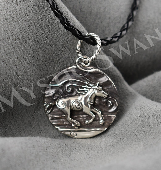 Spirit Horse Necklace/Pendant in Sterling Silver