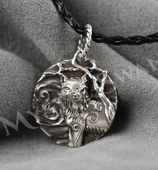Spirit Fox Necklace/Pendant in Sterling Silver