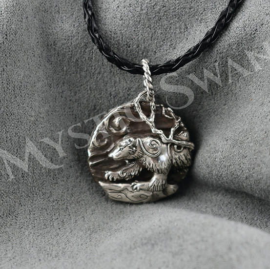 Spirit Wolverine Necklace/Pendant in Sterling Silver