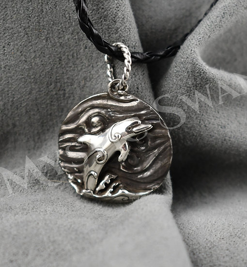 Spirit Dolphin Necklace/Pendant in Sterling Silver