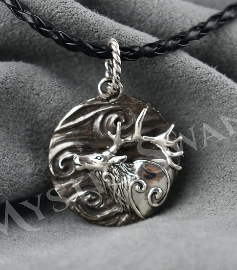 Spirit Elk Necklace/Pendant in Sterling Silver