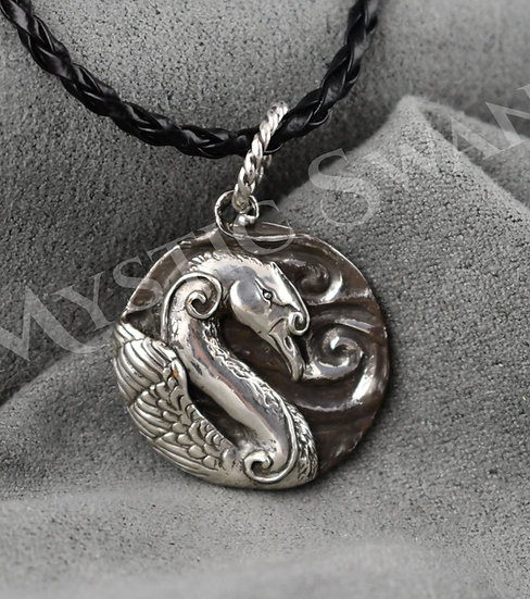 Spirit Swan Necklace/Pendant in Sterling Silver