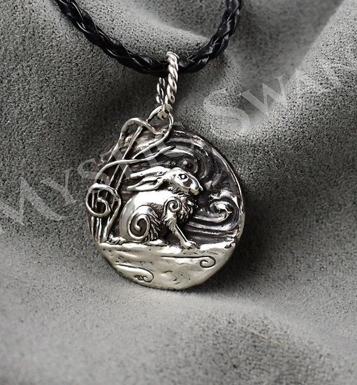 Spirit Rabbit Necklace/Pendant in Sterling Silver