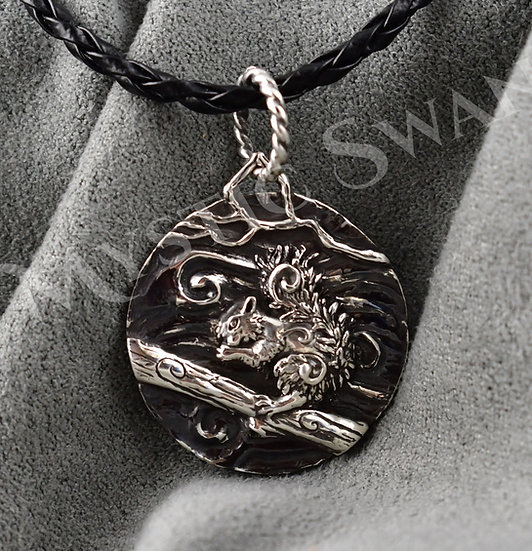 Spirit Squirrel Necklace/Pendant in Sterling Silver