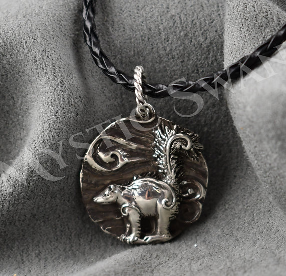 Spirit Skunk Necklace/Pendant in Sterling Silver