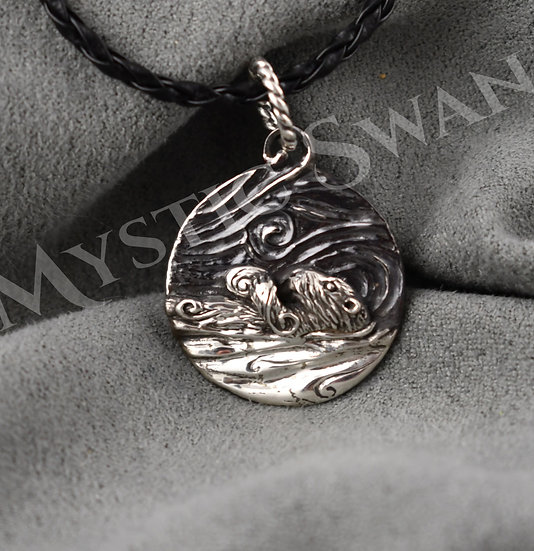Spirit Otter Necklace/Pendant in Sterling Silver