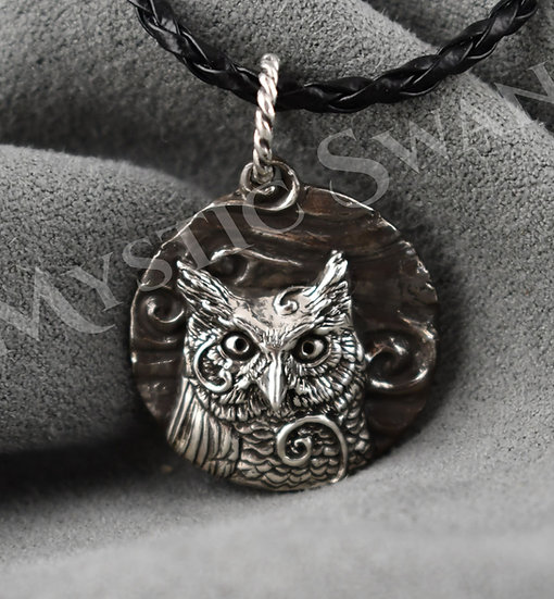 Spirit Owl Necklace/Pendant in Sterling Silver