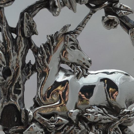 Magical Fantasy Jewelry Unicorn Pendant in Sterling Silver