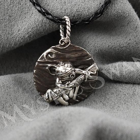 Spirit Frog Necklace/Pendant in Sterling Silver