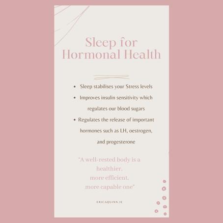 Sleep for hormone health!