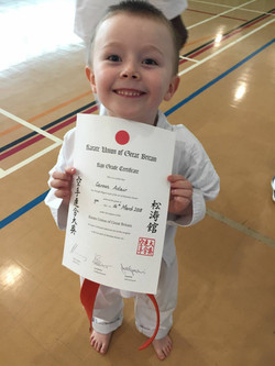 Young Carson_super chuffed with his pass