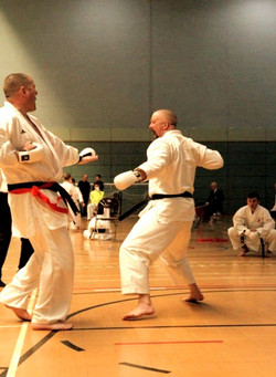 April 2019 Gary in Final Senors Kumite K
