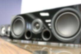 Home audio theatre speakers