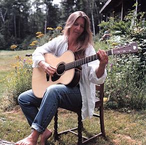 Karen Almquist plays her Froggy Bottom Guitar