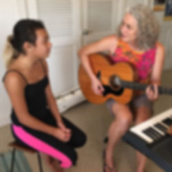 Shania Pocock and Louise Taylor Singing Lesson