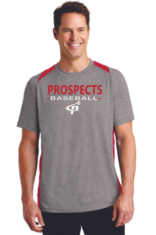 Prospects Baseball Heather Colorblock Contender™ Tee Full Logo
