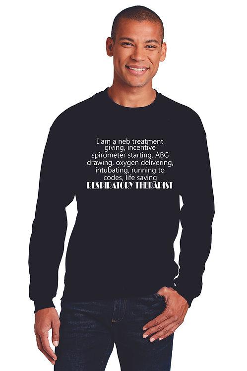Respiratory Therapy Quote Crew Neck Sweatshirt
