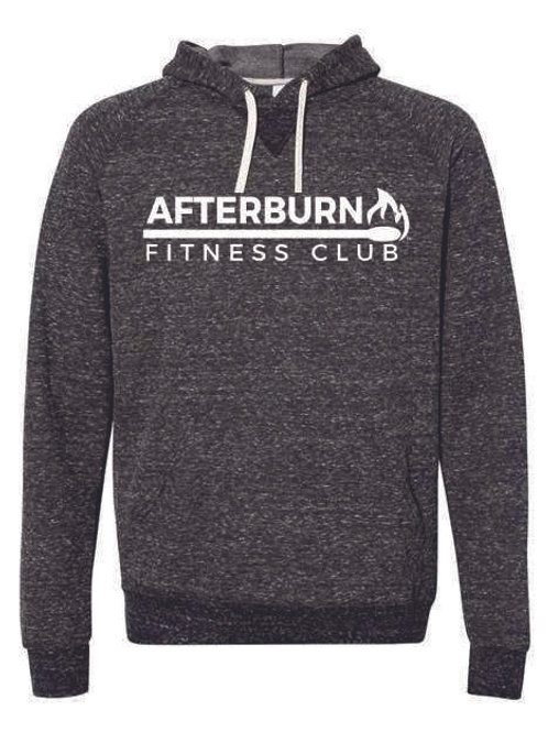 Afterburn Fitness Snow Heather French Terry Pullover Hood Sweatshirt