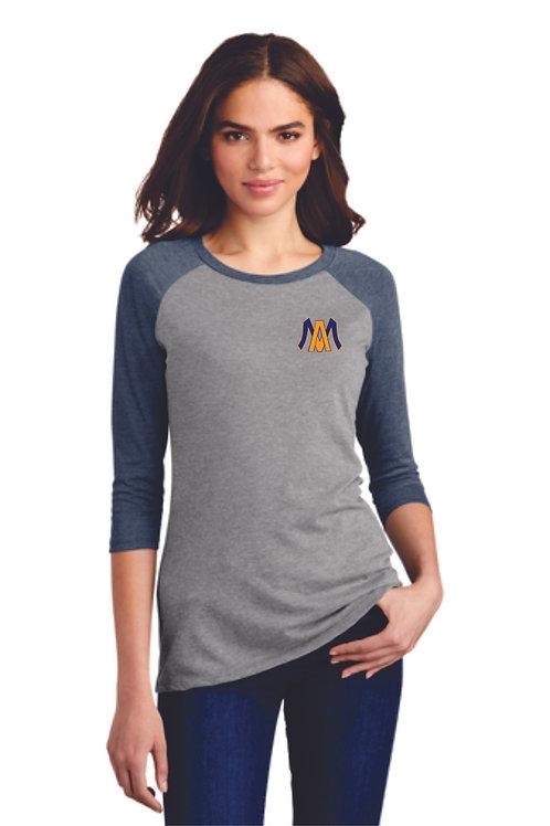 Algonac Baseball District ® Women's Perfect Tri ® 3/4-Sleeve Raglan