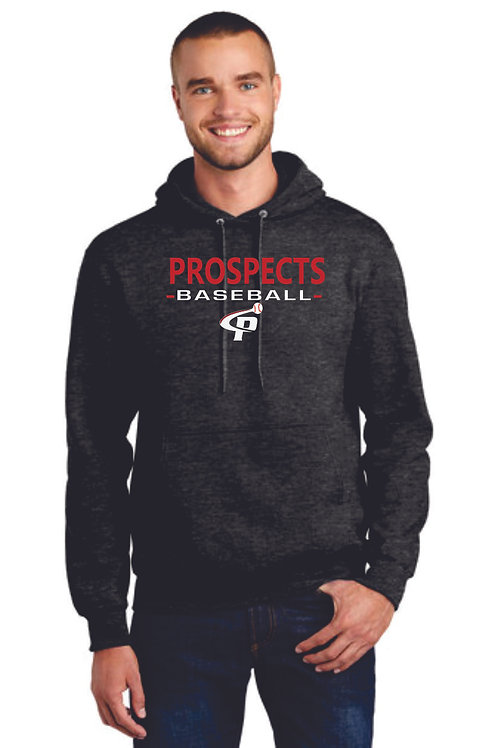 Prospects Baseball Essential Fleece Pullover Hooded Sweatshirt  Full Logo