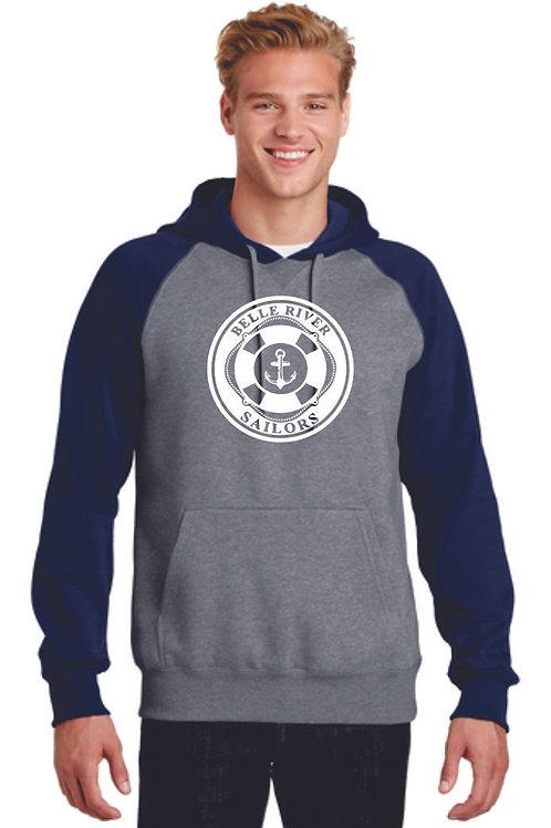Belle River Unisex Colorblock Pullover Hooded Sweatshirt