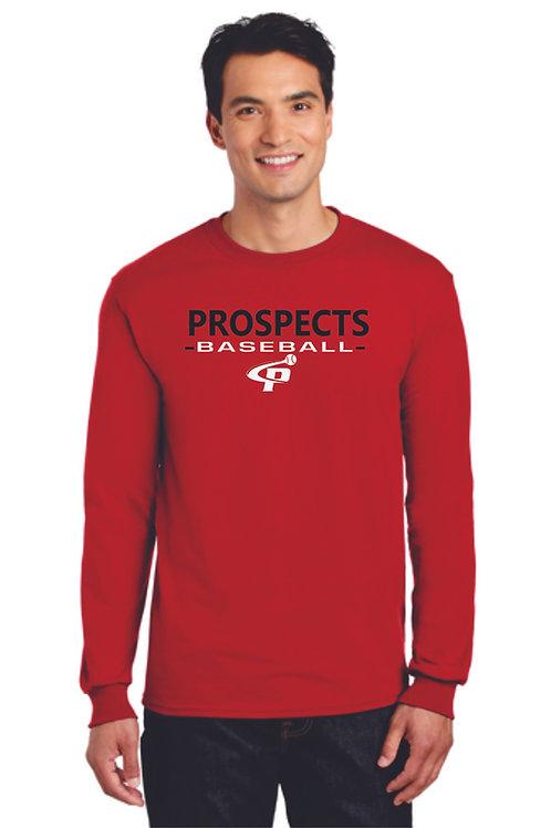 Prospects Baseball Dry Blend Long Sleeve T-shirt Full Logo