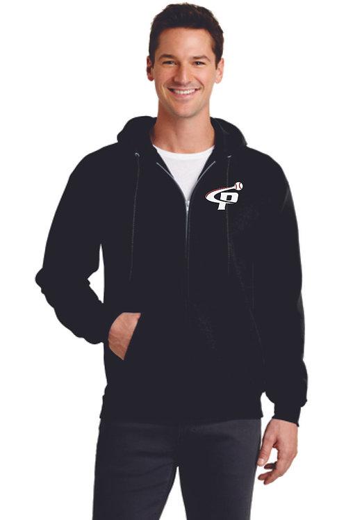 "Prospects Baseball Essential Fleece Zip up Hooded Sweatshirt  ""P"" Log"