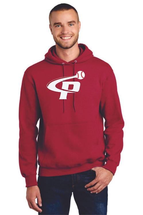 "Prospects Baseball Essential Fleece Pullover Hooded Sweatshirt  ""P"" Log"