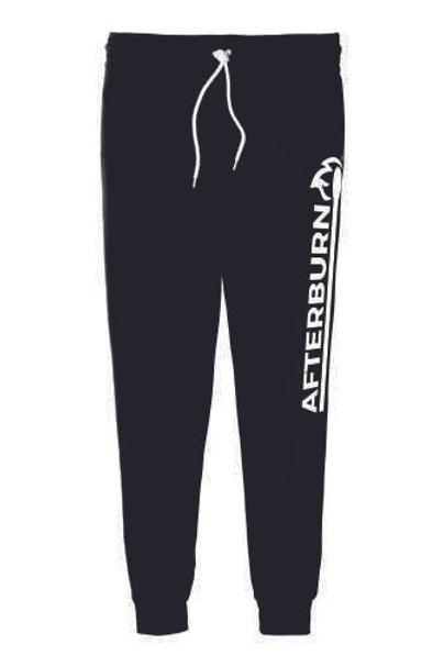 Afterburn Fitness White Logo BELLA+CANVAS ® Unisex Jogger Sweatpants