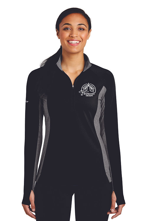Respiratory Therapy Lungs Ladies 1/4 Zip Up