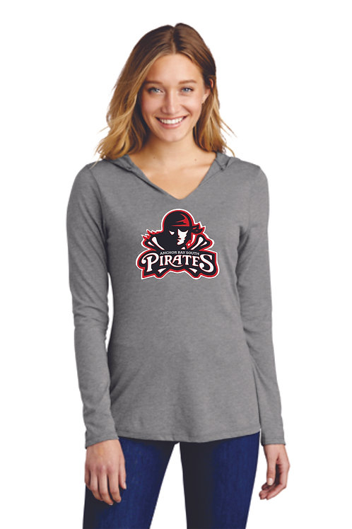 Anchor Bay Pirates Women's Perfect Tri ® Long Sleeve Hoodie Full Logo