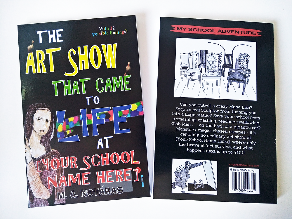 Front and back cover, The Art Show That Came To Life, sample book