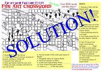 Fun Art-themed Crosword - Solution